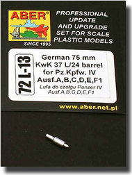 Aber Accessories  1/72 Panzer A, B, C, D, E, F1 Gun Barrel ABR72L13