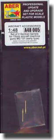 Aber Accessories  1/48 Set of 2 German barrels for 13mm aircraft machine guns MG 131 (early type). ABRA48005