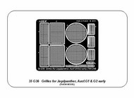 Grilles for Jagdpanther Ausf.G1/Ausf.G2 early #ABR35G36