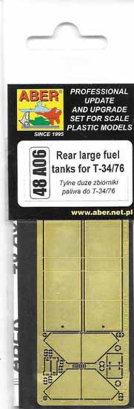 Aber Accessories  1/48 Rear large fuel tanks for T-34/76 ABR48A006