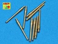 Aber Accessories  1/700 Set of 9 pcs 406 mm short barrels for ships: North Carolina, Washington ABR700-L12
