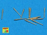 Aber Accessories  1/700 Set of 12 pcs 150 mm barrels for German ships : Bismarck, Tirpitz, Scharnhorst, Gneisenau ABR700-L15