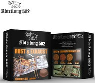 Abteilung 502  Pigments Rust & Exhaust Pigment Set (4 Colors) 20ml Bottles ABT403