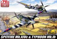 Academy  1/72 Spitfire Mk XIVc & Typhoon Mk Ib Aircraft 70th Anniversary Normandy (Ltd Edition) (2 Kits)- Net Pricing ACY12512