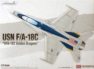 "Academy  1/72 USN F/A-18C ""VFA-192 Golden Dragons"" ACY12564"