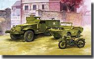 Academy  1/72 M3 Half Track and 1/4 Ton Amphibian Vehicle ACY13408