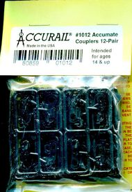 Accurail  HO Accumate Mag Couplers 12pr ACU1012