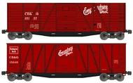 Accurail  HO Ob Wood Boxcar Cb&Q 2#Set ACU1210