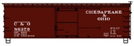 Accurail  HO 36'Ds Wood Boxcar C&O ACU1403