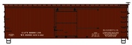 Accurail  HO 36'Dblsht Bxcar Stlend Data ACU1499