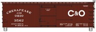 Accurail  HO Chesapeake & Ohio 36' Dbl Sheath Wood Boxcar w/Wood Ends ACU1801