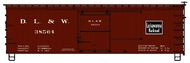 Accurail  HO 36'Dbl Sht Wood Boxcar Dl&W ACU1802