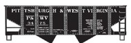Accurail  HO Pittsburgh & West Virginia USRA 55-Ton Twin Hopper ACU2428