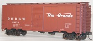 Accurail  HO 40' Aar Steel Boxcar R&Rgw ACU3539