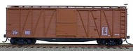 Accurail  HO Data Mineral Red 40' Wood 8-Panel Outside Braced Boxcar w/Steel Doors ACU4398