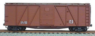 Accurail  HO Data Only Mineral Red 40' Wood 6-Panel Outside Braced Boxcar w/Steel Doors ACU7198
