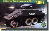 Ace Plastic Models  1/72 ADGZ Mittleren Panzerwagen M35 AMO72263