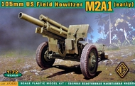 Ace Plastic Models  1/72 US 105mm howitzer M2A1 w/M2 gun carriage AEC72530