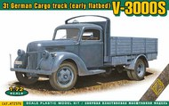 Ace Plastic Models  1/72 V-3000S 3t German cargo truck (early flatbed) AEC72576