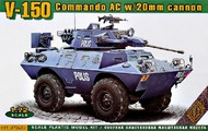 Ace Plastic Models  1/35 1/72 V150 Commando AC Armored Personnel Carrier w/20mm Gun AMO72430