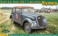 Ace Plastic Models  1/72 Olympia Mod 1937 Convertible Staff Car (D)<!-- _Disc_ --> AMO72505