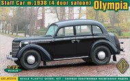 Ace Plastic Models  1/72 Olympia Mod 1938 Saloon Staff Car AMO72518