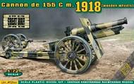 Ace Plastic Models  1/72 Cannon de 155 Mod 1918 w/Wooden-Type Wheels AMO72544