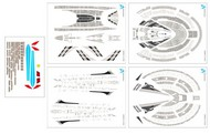 ACREATION MODELS  1/1400 Star Trek USS Enterprise NCC1701E (Nemesis) Aztec Decals for AMT ACL103