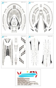 ACREATION MODELS  1/2500 Star Trek USS Enterprise NCC1701E (Nemesis) Aztec Decals for AMT ACL132