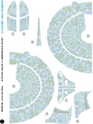 ACREATION MODELS  1/2500 Star Trek USS Enterprise NCC1701D (Grey) Aztec Decals for AMT ACL136