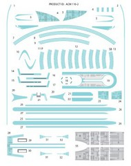 ACREATION MODELS  1/2500 Star Trek USS Enterprise NCC1701B Blue Marking Decals for AMT ACL138