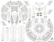 ACREATION MODELS  1/1000  Star Trek USS Enterprise NX01 Aztec Decals for PLL ACL140