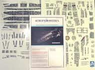 ACREATION MODELS  1/4105 Battlestar Galactica BS75 Armor Aztec Decals for MOE ACL147