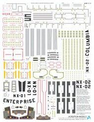 ACREATION MODELS  1/350 Star Trek USS Enterprise NX01 Registry Marking Decals for PLL ACL153