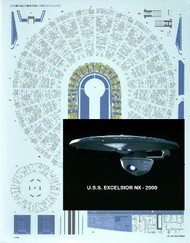 ACREATION MODELS  1/1000  Star Trek USS Enterprise Excelsior Aztec Decals for AMT ACL154