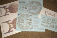 ACREATION MODELS  1/1000  Star Trek USS Enterprise NX01 Refit Aztec Decals for PLL ACL174