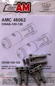 ADVANCED MODELING  1/48 OFAB100-120 High-Explosive Fragmentation Bomb (6) for Soviet Aircraft (D)<!-- _Disc_ --> AOD48062