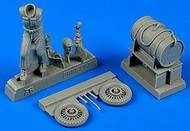 AeroBonus by Aires  1/48 WWII US Army Aircraft Mechanic Pacific Theatre (Pushing Fuel Cart) ABN480112