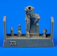 AeroBonus by Aires  1/72 WWII German Luftwaffe Bf.109 Late Version Pilot ABN720020