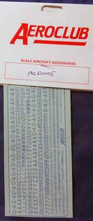 2&4mm Civ Letters/Nums Ltblue #AED005