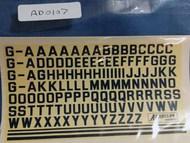 Civ Reg Letters 8mm Dark Blue #AED0107