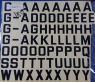 Civ Reg Letters 25mm Black #AED0180