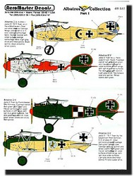 Aeromaster Products  1/48 Collection - Albatros Fighter Collection Pt.1 AES48181