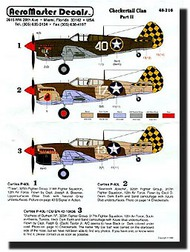 Aeromaster Products  1/48 Collection - Checkertail Clan (P-40F/L) Pt.2 AES48216