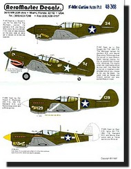 Aeromaster Products  1/48 Collection - P-40 Curtiss Aces Pt.1 AES48308