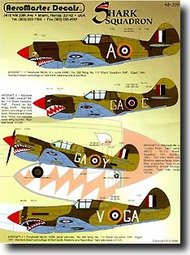 Aeromaster Products  1/48 Collection - Shark Squadron P-40 AES48390