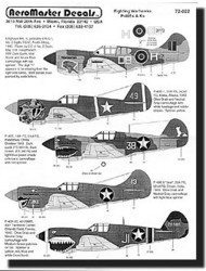 Aeromaster Products  1/72 Collection - P-40 E/K Galore Collection AES72022