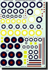 Aeromaster Products  1/72 Spitfire/ Hurricane Roundels AES72051