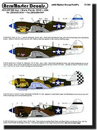 Aeromaster Products  1/72 Collection - 49th Fighter Group (P-40) AES72080