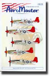Aeromaster Products  1/72 Collection - Tuskegee Airmen (P-51s) AES72175